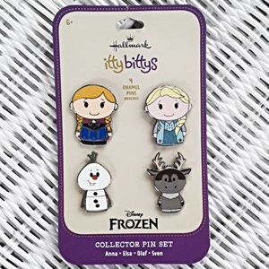 NEW Hallmark Disney Frozen Itty Bittys Pin Set